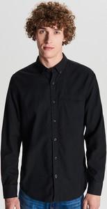Czarna koszula Cropp z długim rękawem w stylu casual