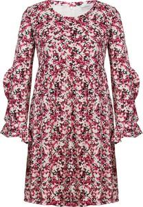 Sukienka Max & Co. z okrągłym dekoltem w stylu casual z długim rękawem