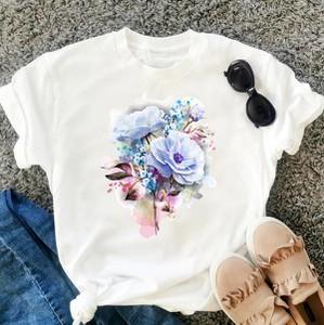 Bluzka Time For Fashion z krótkim rękawem z bawełny z okrągłym dekoltem