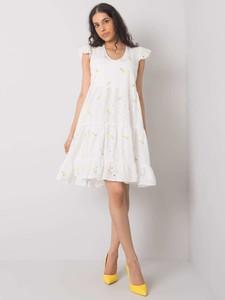 Sukienka Sheandher.pl z okrągłym dekoltem z bawełny mini