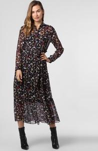 Sukienka Hugo Boss z jedwabiu z długim rękawem