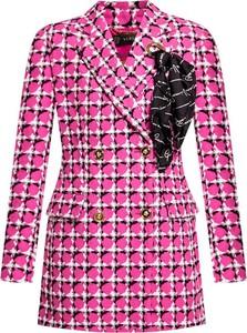 Płaszcz Versace z wełny w stylu casual