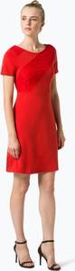 Sukienka comma, z okrągłym dekoltem z krótkim rękawem mini