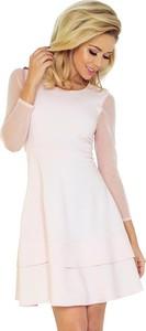 Sukienka NUMOCO rozkloszowana z okrągłym dekoltem z tiulu