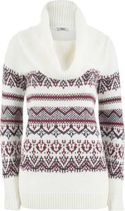 Sweter bonprix bpc bonprix collection w stylu casual w stylu skandynawskim