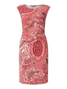 Czerwona sukienka Montego ołówkowa bez rękawów