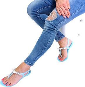 Niebieskie sandały Vices z płaską podeszwą