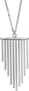 Manoki Elegancki naszyjnik damski w kolorze srebrnym