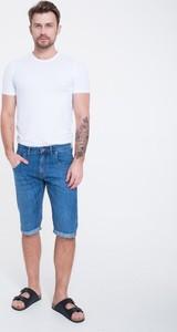 Niebieskie spodenki Big Star z jeansu w stylu casual