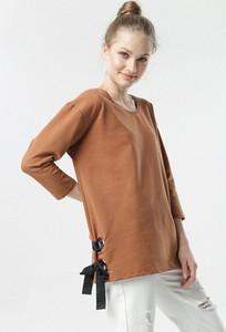 Brązowa bluzka born2be w stylu casual