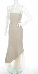 Brązowa sukienka Fred Sun maxi bez rękawów