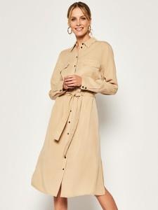 Sukienka Marc O'Polo midi koszulowa w stylu casual