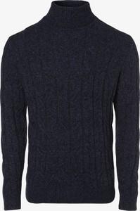 Niebieski sweter Andrew James New York w stylu casual