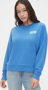 Niebieska bluza Gap z bawełny w stylu casual