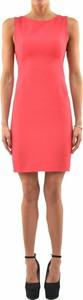 Różowa sukienka Dsquared2 mini z wełny