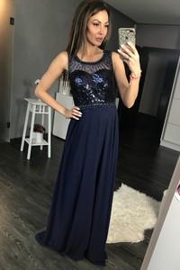 Sukienka Yournewstyle gorsetowa maxi