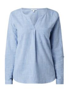 Niebieska bluzka Tom Tailor Denim z bawełny w stylu casual
