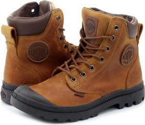 Brązowe buty zimowe Palladium