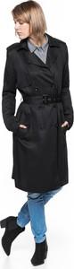 Czarny płaszcz Tom Tailor w stylu casual