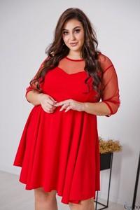 Sukienka tono.sklep.pl z długim rękawem z tiulu