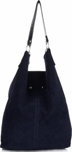 Torebki skórzane typu shopperbag firmy vittoria gotti granatowe