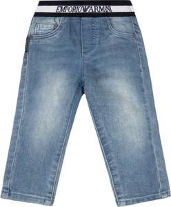 Niebieskie jeansy dziecięce Emporio Armani dla chłopców