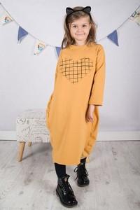 Żółta sukienka dziewczęca Meleksima z dzianiny