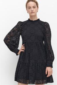 Czarna sukienka Reserved mini koszulowa