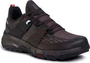 Fioletowe buty sportowe eobuwie.pl sznurowane z goretexu