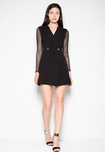 Sukienka sukienki.pl z tkaniny z dekoltem w kształcie litery v