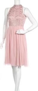 Różowa sukienka Lace & Beads bez rękawów