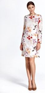 Sukienka Colett mini z długim rękawem z okrągłym dekoltem