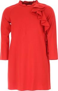 Czerwona sukienka dziewczęca Il Gufo