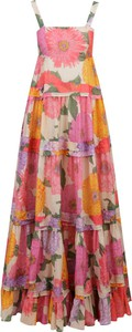 Sukienka Twinset na ramiączkach z dekoltem w karo z jedwabiu