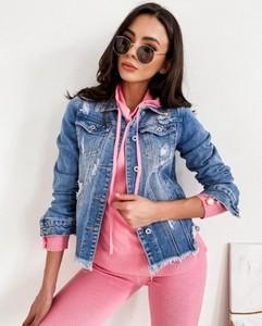 Kurtka Infinityfashion.pl z jeansu w stylu casual