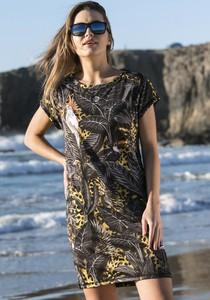 Sukienka Nessi Sportswear z krótkim rękawem z okrągłym dekoltem mini