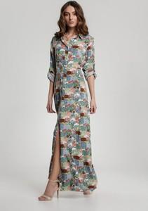 Sukienka Renee z kołnierzykiem z długim rękawem maxi