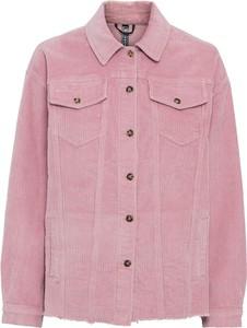 Różowa kurtka bonprix ze sztruksu