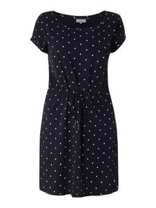 Granatowa sukienka ONLY Carmakoma z krótkim rękawem w stylu casual