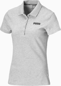 T-shirt Puma z kołnierzykiem z krótkim rękawem