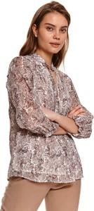 Bluzka Top Secret z dekoltem w kształcie litery v z długim rękawem w stylu casual