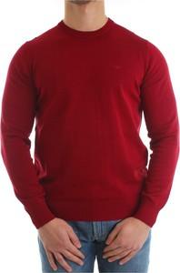 Czerwony sweter Emporio Armani w stylu casual