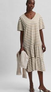 Sukienka Selected Femme w stylu casual midi z bawełny