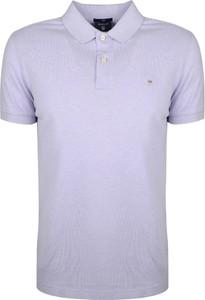 Różowa koszulka polo Gant z tkaniny z krótkim rękawem
