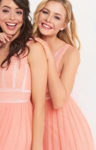 Sukienka ORSAY z tiulu w stylu glamour maxi