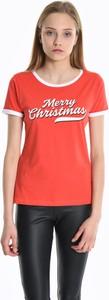 T-shirt Gate z bawełny w bożonarodzeniowy wzór z okrągłym dekoltem