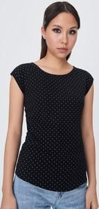Czarny t-shirt Sinsay z krótkim rękawem