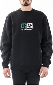 Czarny sweter Stussy w młodzieżowym stylu