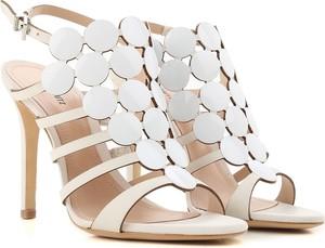 Sandały Schutz ze skóry w stylu glamour na szpilce