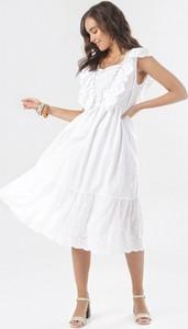 Sukienka born2be z okrągłym dekoltem midi bez rękawów